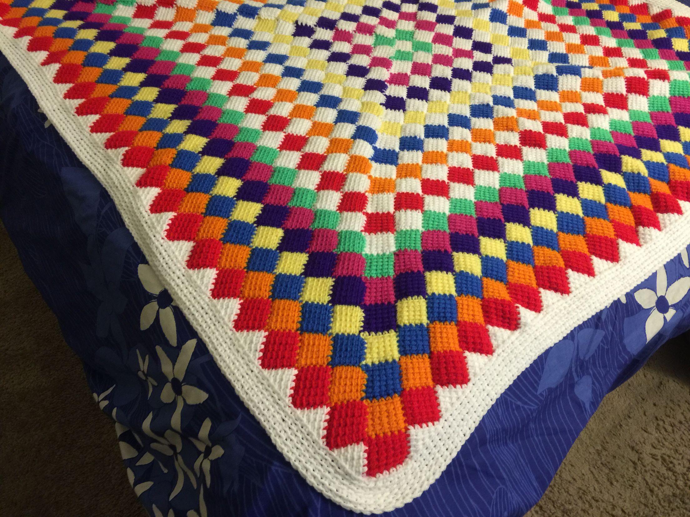 Entrelac Crochet | Beautiful World Of Crochet | Pinterest | Crochet ...