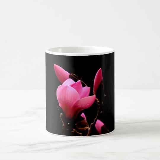 Pink Magnolia on a Black Background Coffee Mug | Zazzle.com #AlexLyubar#FineArtPhotography#VancouverCanada #PinkMagnolia #BlackBackground #ArtForHome #FineAftPrint