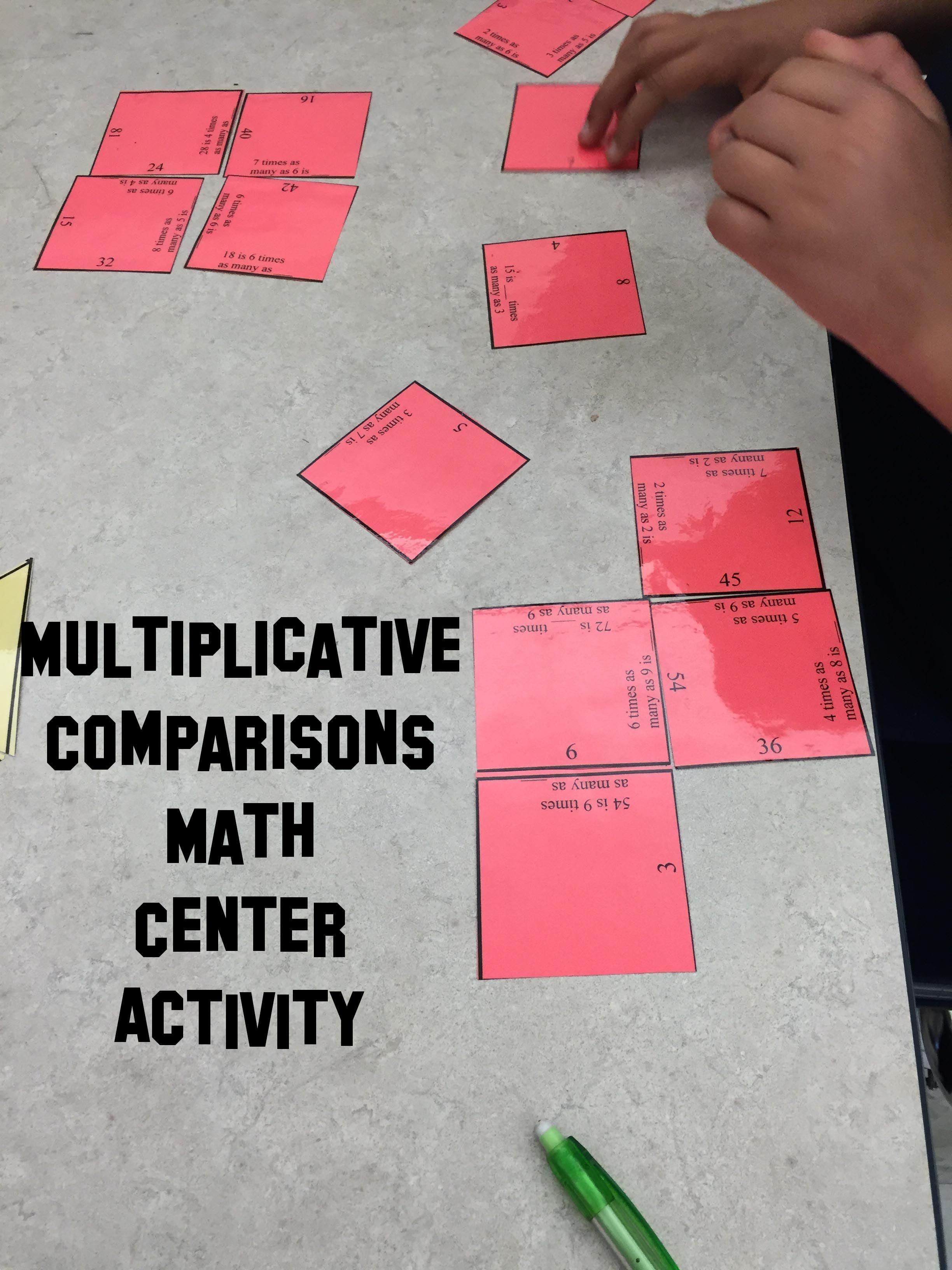 Multiplicative Comparison 4 Oa 1 Magic Square Self