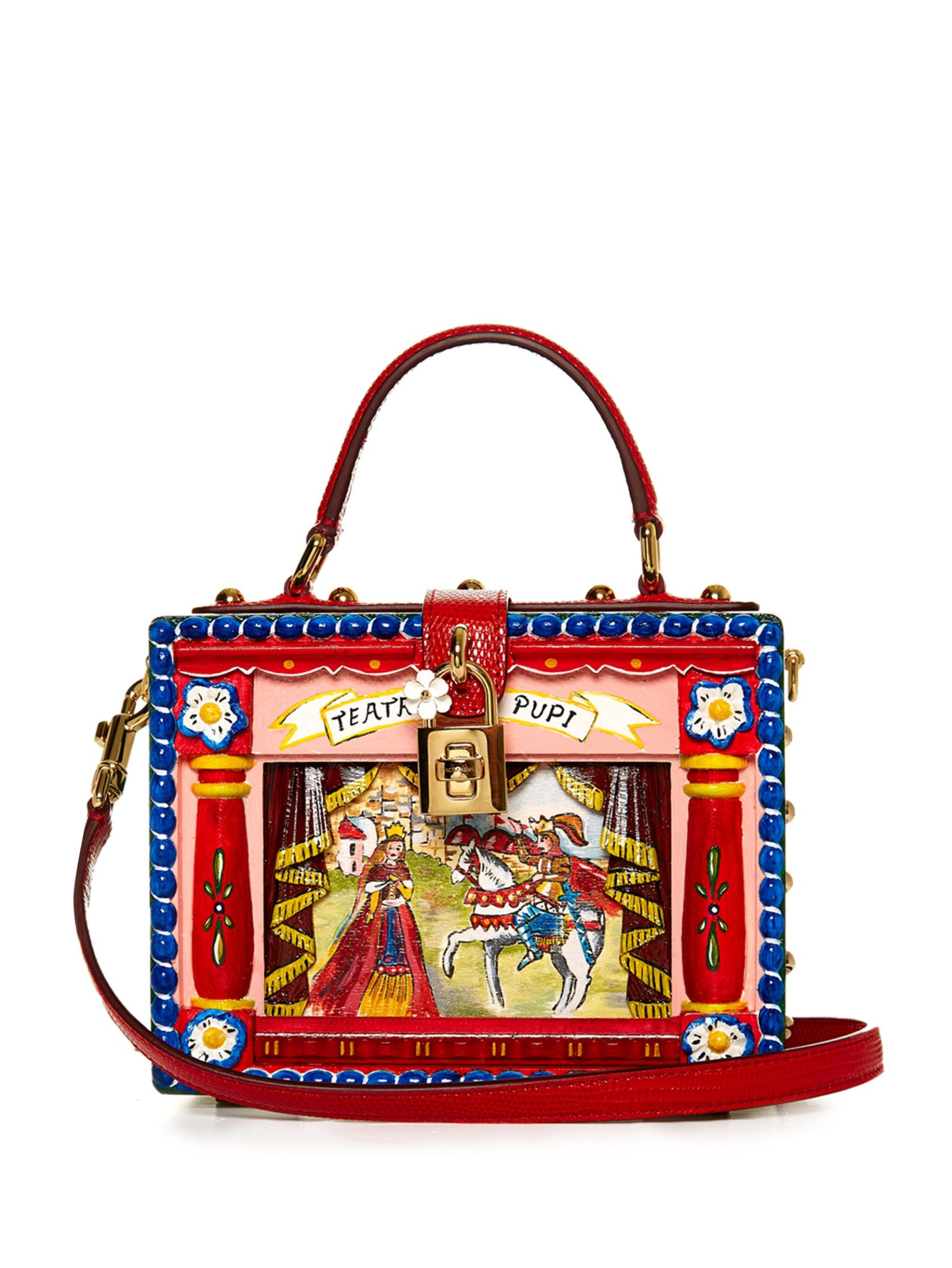35aa9fbfbe56 Dolce hand-painted Carretto-print box bag