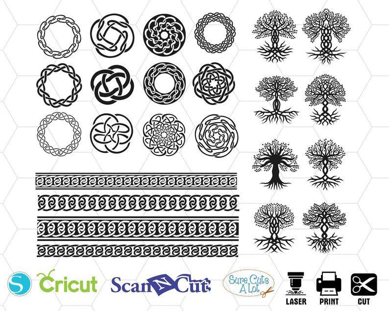 Celtic Circles Svg Celtics Svg Celtic Knot Svg Files Svg Etsy Celtic Circle Celtic Symbols Celtic Knot