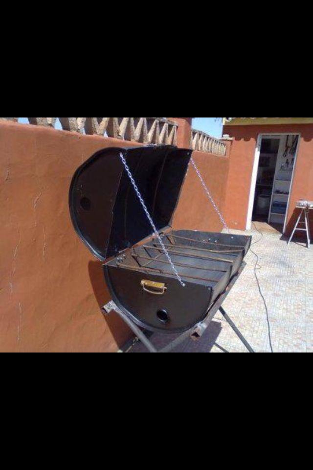 Barbecue recup bidon jardin pinterest fabriquer barbecue faire un barbecue et construire - Astuce bricolage jardin ...