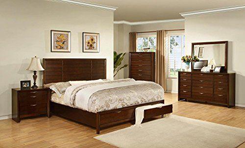 Best Soflex Ireland Light Espresso Finish Storage Bedroom Set 640 x 480