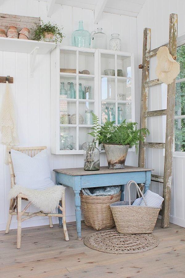 Maison Créative   Salon de jardin Shabby   coussins chaise-pot ...