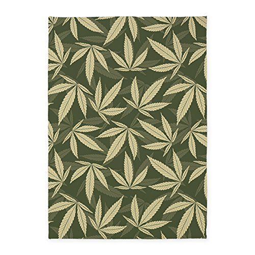 cafepress marijuana leaf pattern decorative area rug x