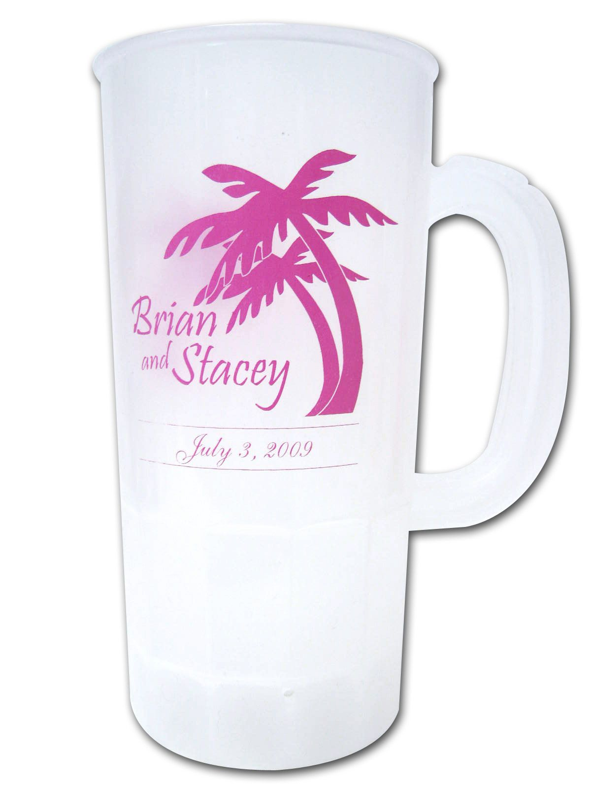 Personalized 22oz Stein Destination Wedding Favors | Customized ...