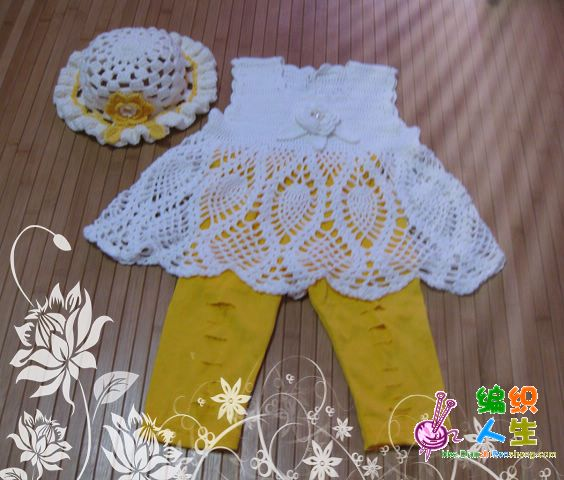 This crochet outfit is adorable.