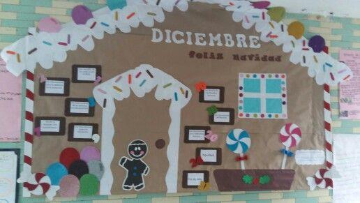 Peri dico mural diciembre por blanca moyano mis - Murales decorativos de navidad ...