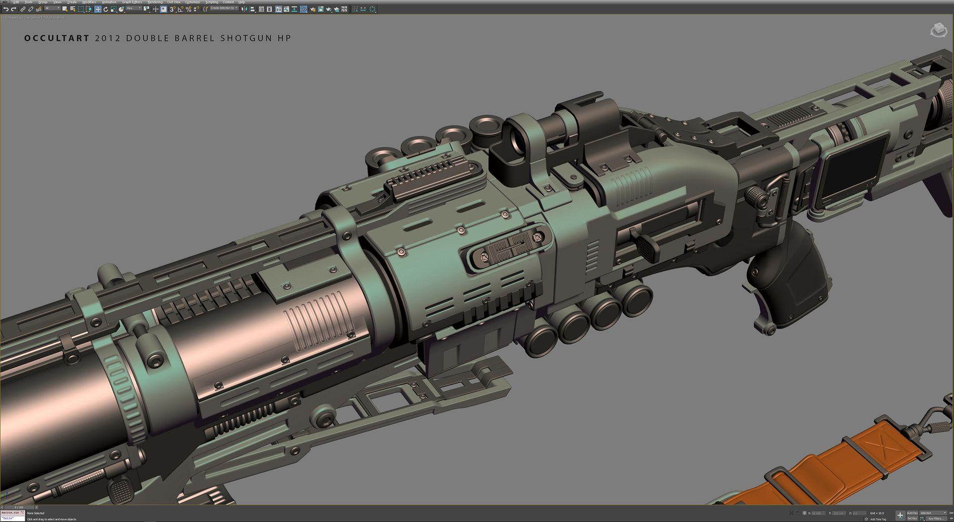 ArtStation - Double Barrel Shotgun HP, OccultArt _
