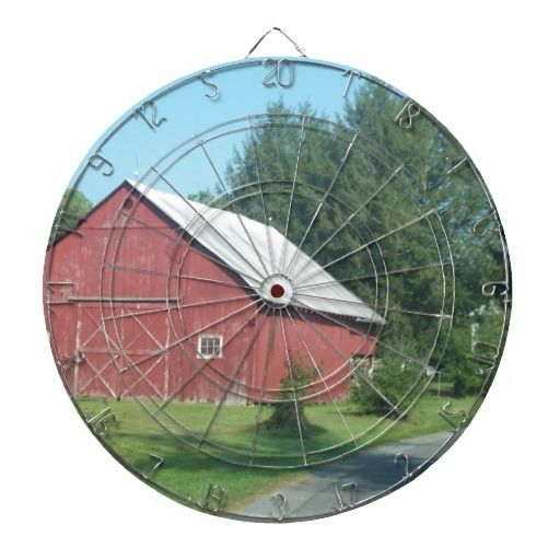 Red Barn Dartboard With Darts