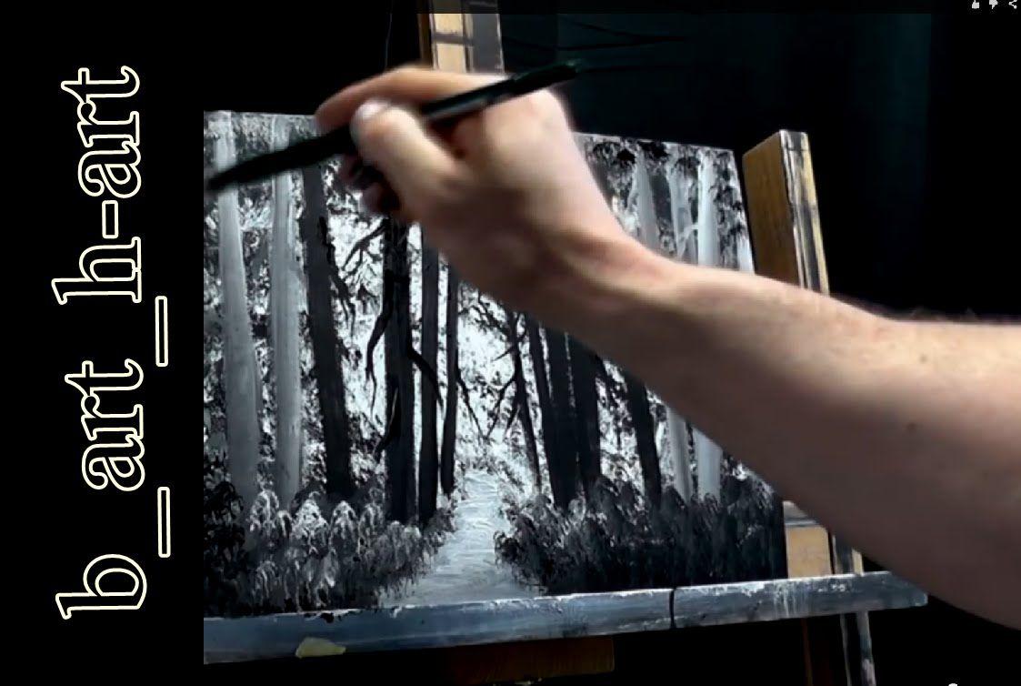 Malen Mit Acrylfarben Waldlandschaft In Wenigen Minuten 1 0