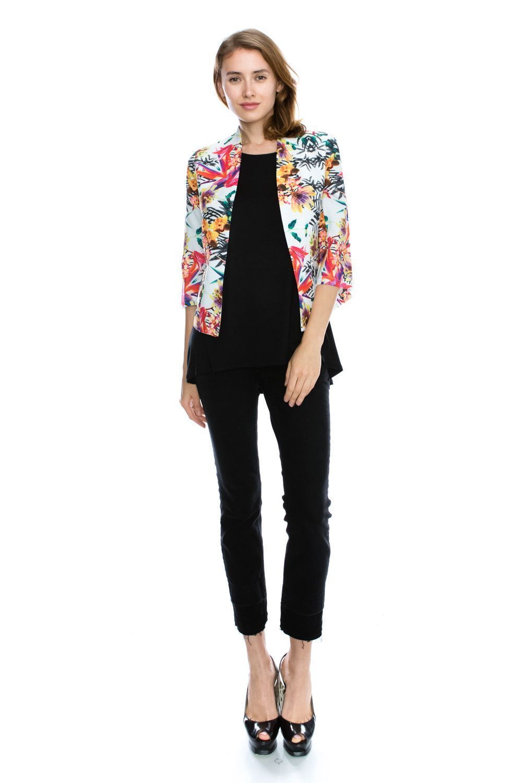 Vibrant Flower Printed Blazer