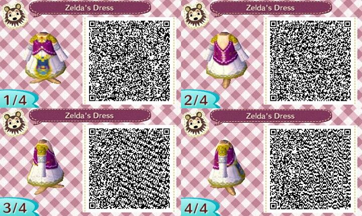 Zelda S Dress Qr Codes Animal Crossing Animal Crossing Qr Qr