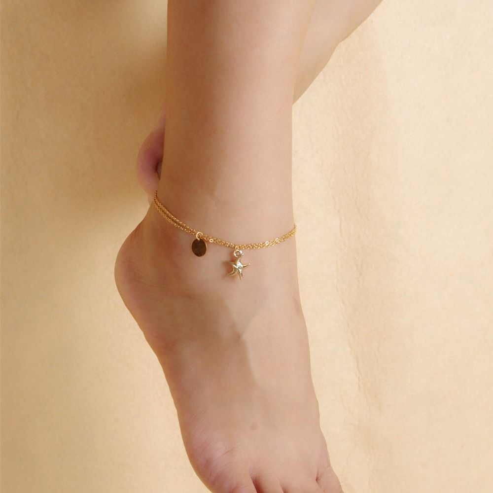 beach boho sexy anklet female cool ankle jewelry barefoot wedding fashion sandals crystal best pie foot leg product chain bracelet bracelets