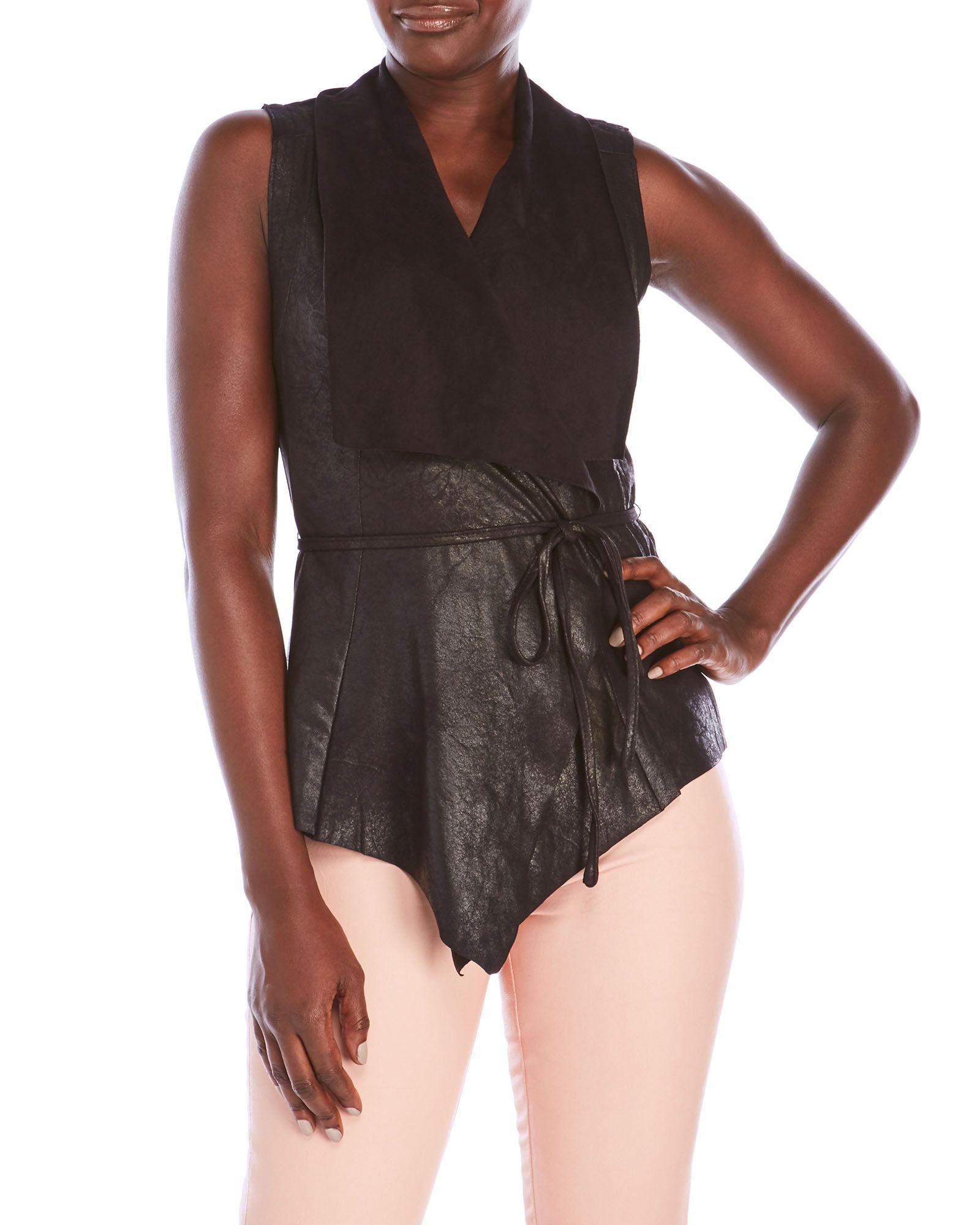 Bagatelle Faux Leather Vest