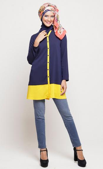 Model Baju Muslim Remaja Casual Simple Model Busana Model