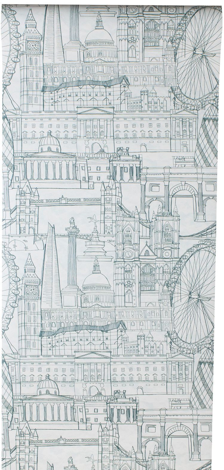 London Skyline Wallpaper – Green