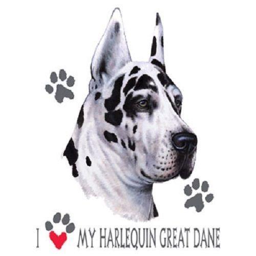 Harlequin Great Dane Dog Heat Press Transfer For T Shirt
