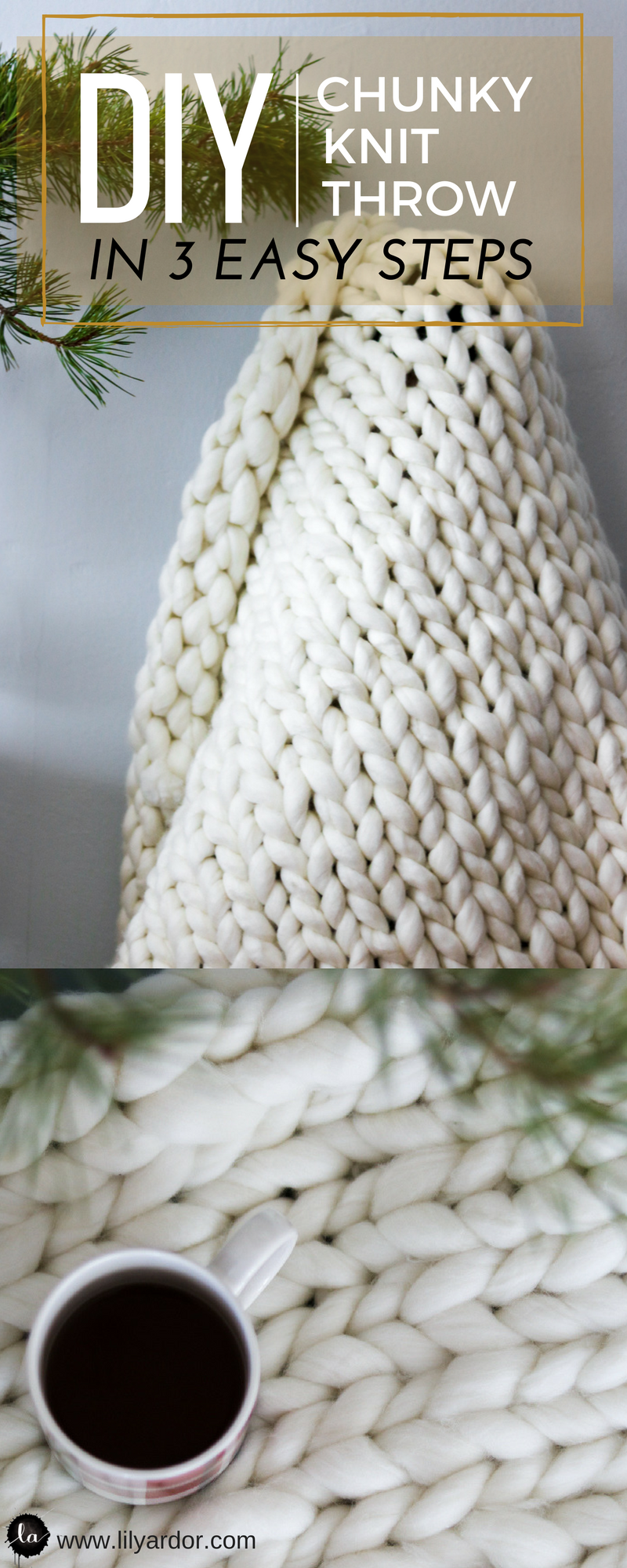 You won\'t believe how easy it is to make this chunky knit blanket ...