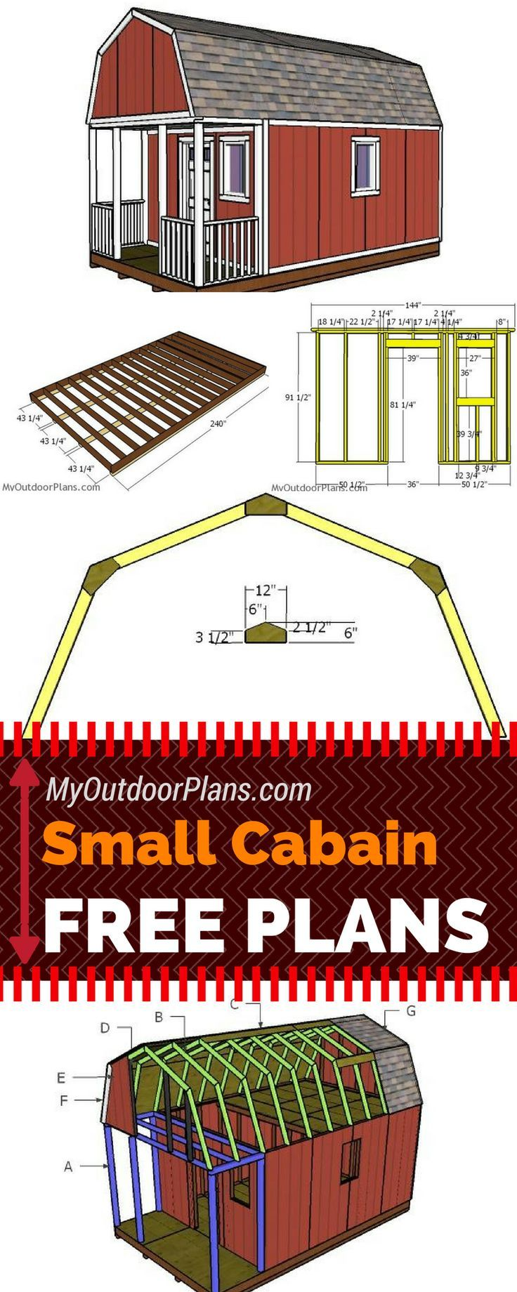 12x20 Small Cabin Plans DIY Hunting Shack MyOutdoorPlans