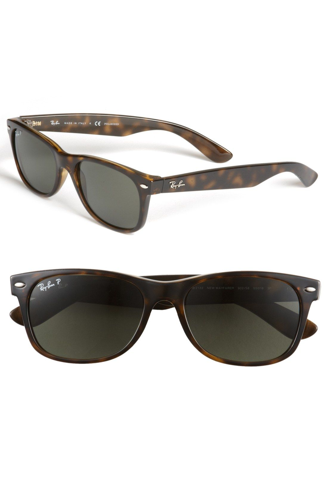 Ray Ban 'New Wayfarer' 55mm Polarized Sunglasses