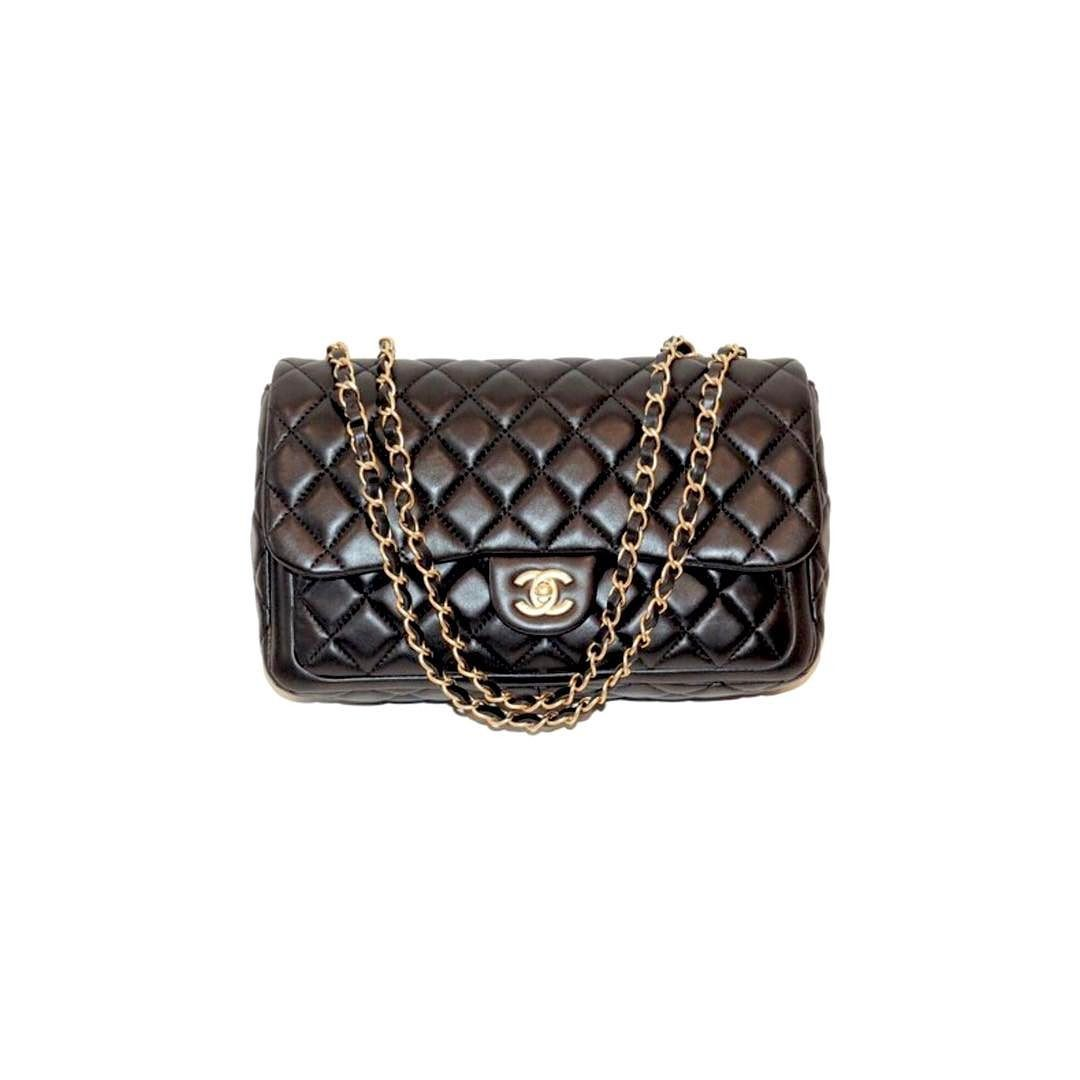 fb69fed98e8f Chanel now and forever jumbo quilted lambskin flap bag excellent condition  with all accessories and box