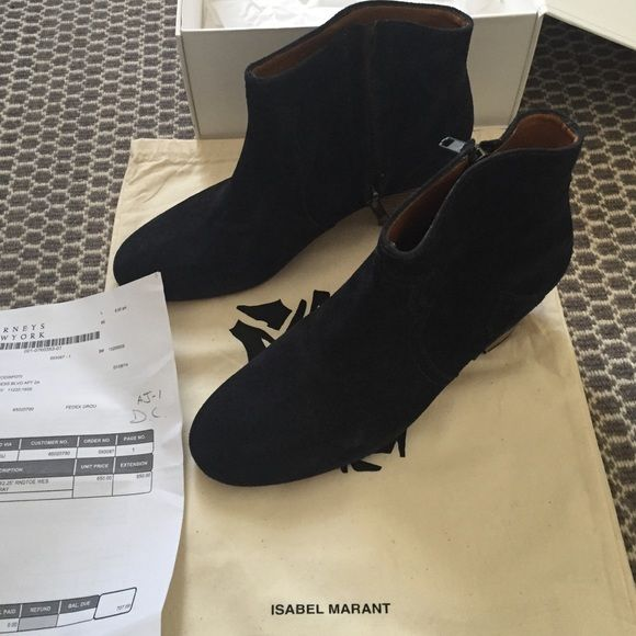 Brand new in box Isabel Marant Dicker boots Deep navy suede Isabel Marant Dicker boots. Isabel Marant Shoes Ankle Boots & Booties