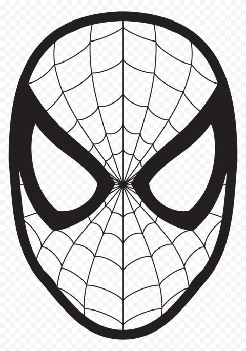 Hd Spider Man Outline Mask Png In 2021 Spiderman Coloring Love Coloring Pages Coloring Pages