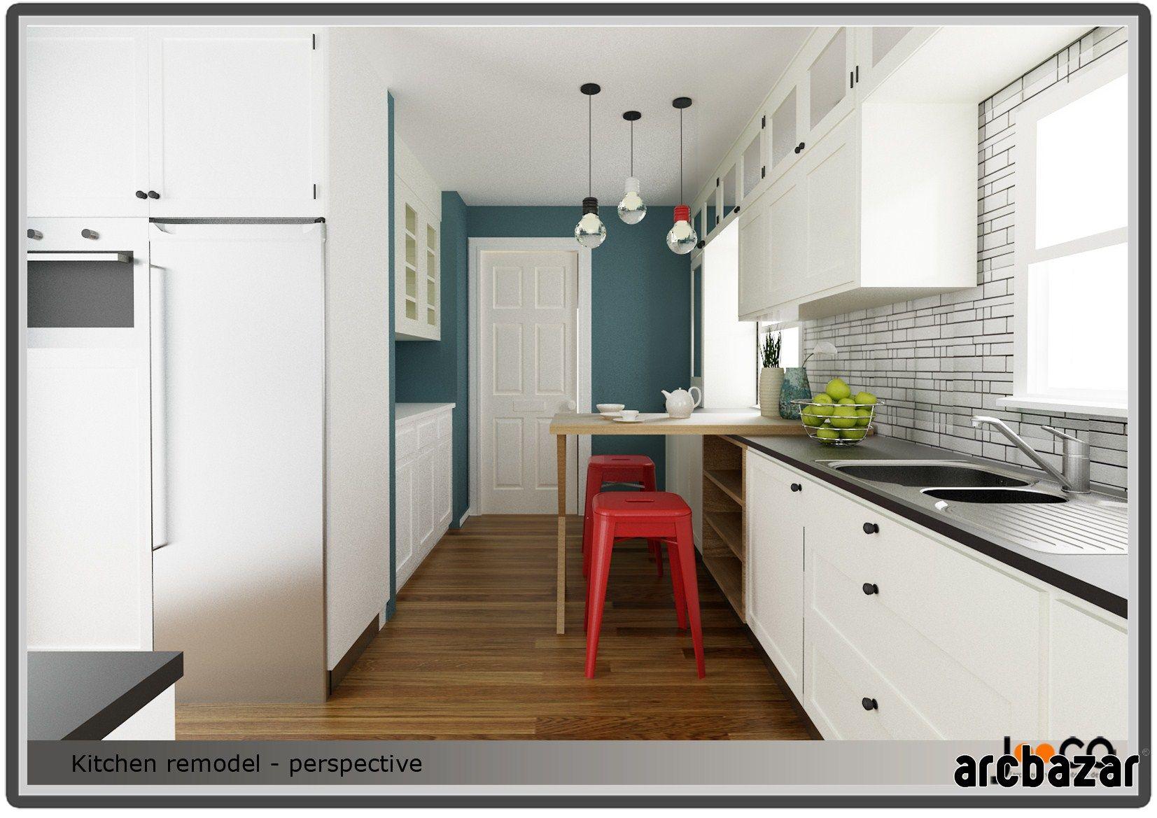 Kitchen Remodel Design By Jooca Studio Via Arcbazar.com · Kansas  CityKitchen Remodel