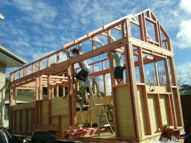 tiny house construction. tiny house based on humble homes\u0027 plans construction 0
