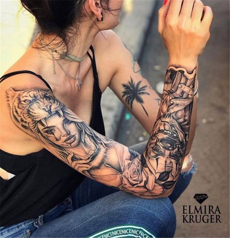 Awesome Sleeve Tattoos For Women Which You Will In Love With Awesome Sleeve Tattoos Sleeve Feminine Tattoo Sleeves Sleeve Tattoos For Women Feminine Tattoos