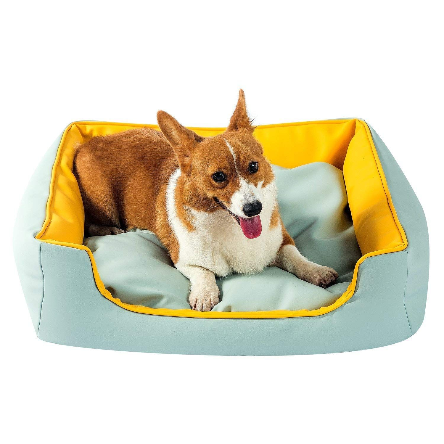 Sepetty Leather Dog Cat Bed Luxurious Dog Bed Removable Easy To Clean And Durable Pet Bed Designed For All Leather Dog Bed Orthopedic Pet Bed Dog Bed Furniture