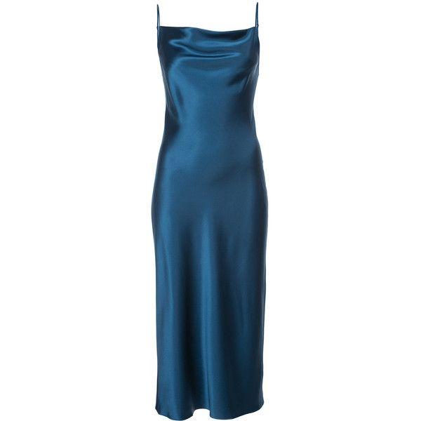 f5bb3171f44 Fleur Du Mal cowl neck slip dress (€640) ❤ liked on Polyvore featuring  dresses