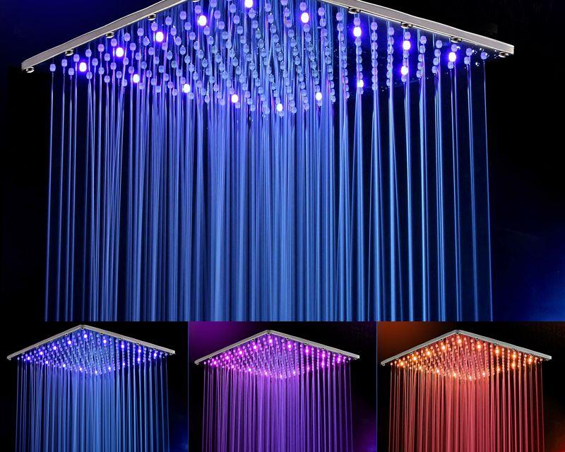 Juno 16 32 Luxury Dual Led Rain Shower Head Large Ceiling