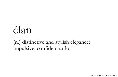 Pronunciation A Lon Ay Lonn Elan Elan Origin French