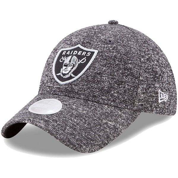 6202a756ebbd21 Women's New Era Heathered Gray Oakland Raiders Total Terry 9TWENTY  Adjustable Hat