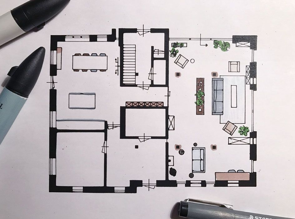 Wat Is Het Verschil Tussen Binnenhuisarchitect En Interieurstylist Basichic Binnenhuisarchitect Architecten Plattegrond