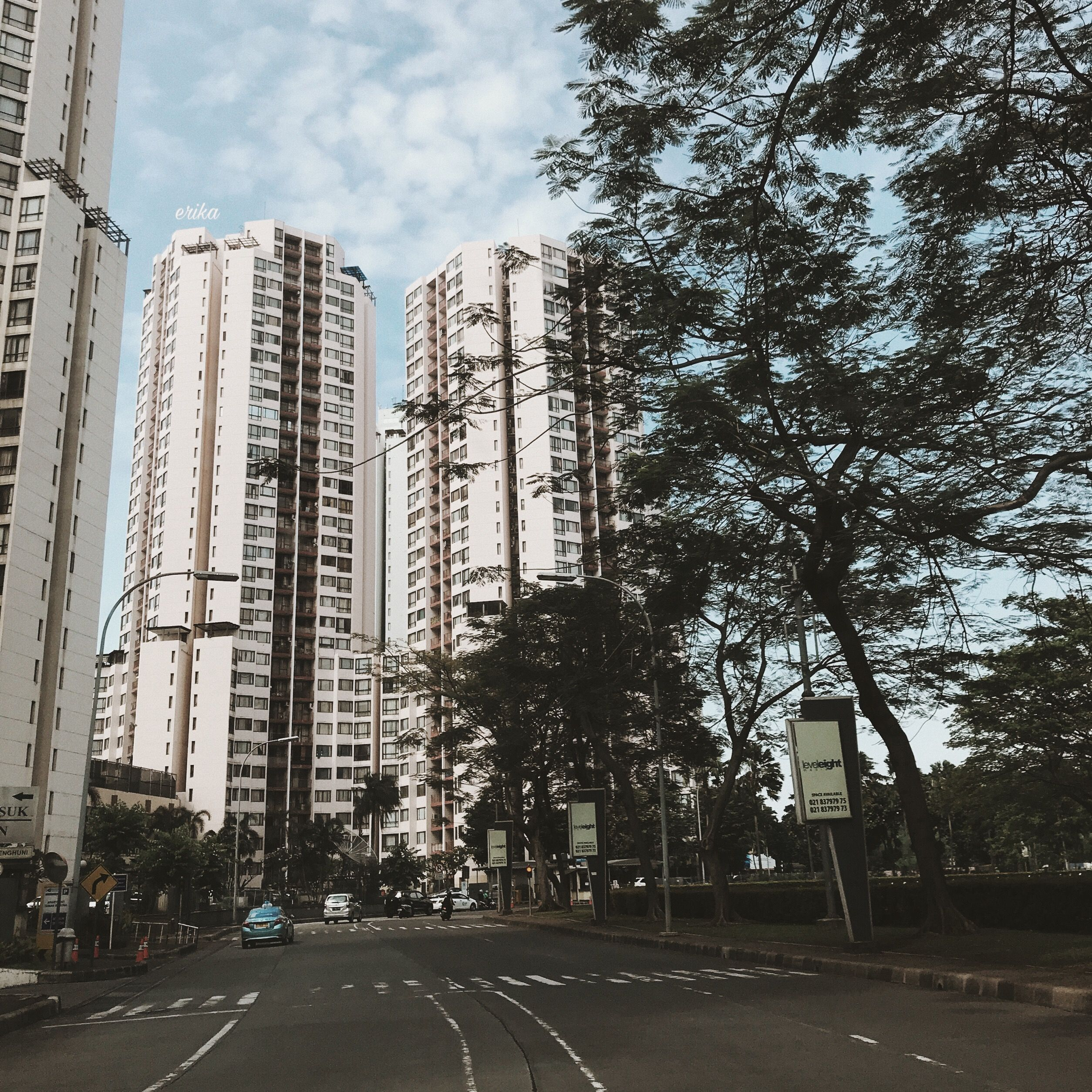 jakarta. jakarta indonesia apartment view tree