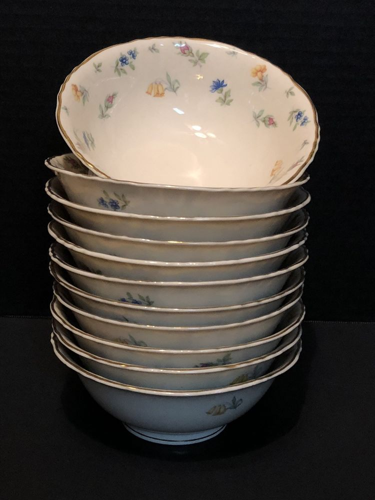 11 Federal Shape Syracuse China Suzanne Deep Footed Soup Bowls 11