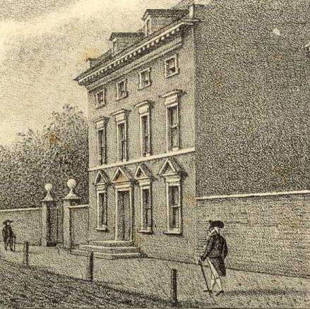 The President's Housein Philadelphia. Ona came to work here in 1790.