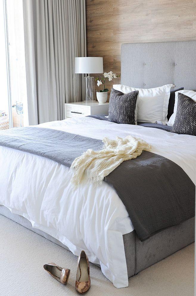 Piso blanco y gris - dormitorio - bedroom | Piezas | Pinterest ...