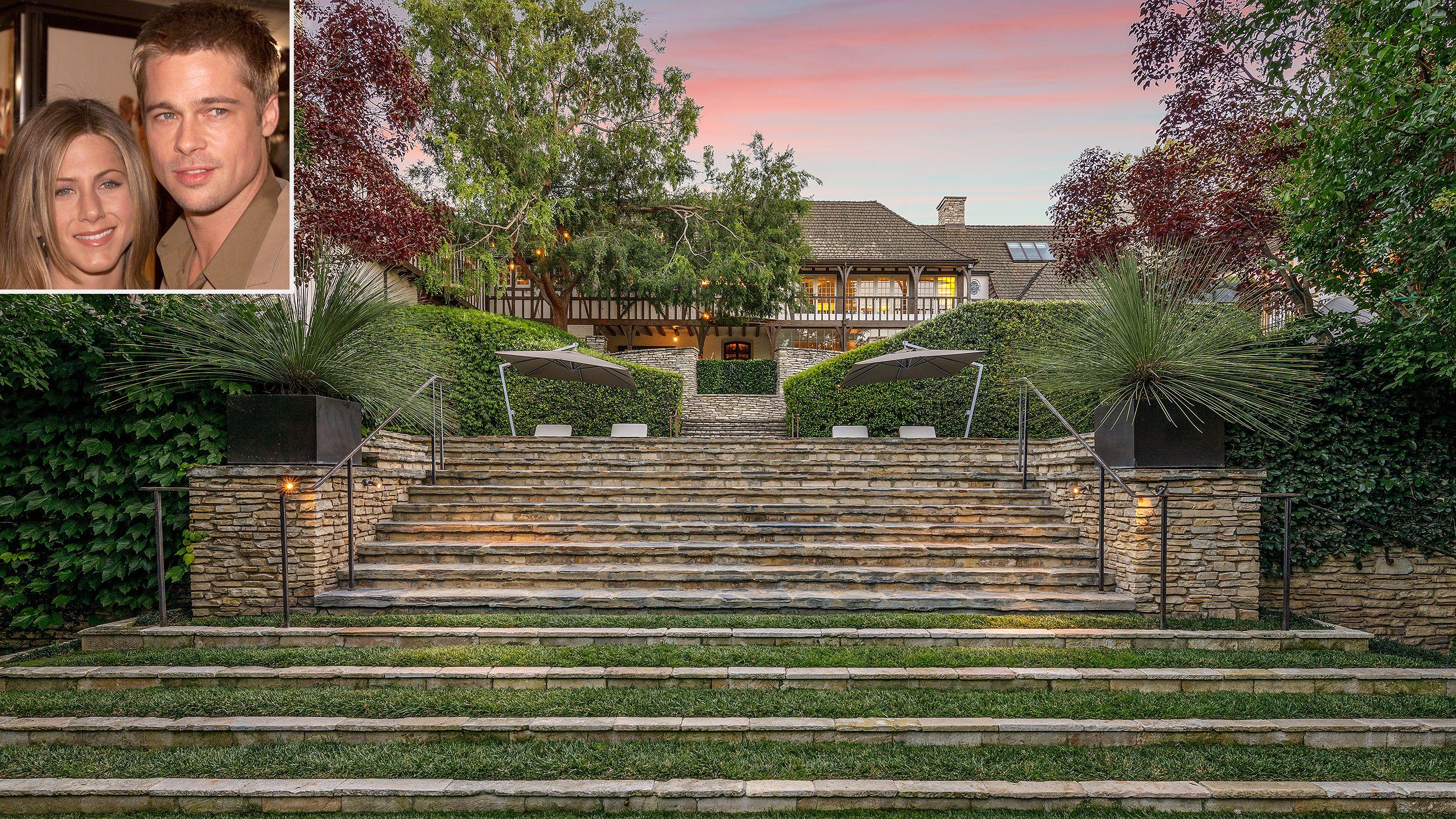 Brad Pitt And Jennifer Aniston S Former Beverly Hills Mansion Is