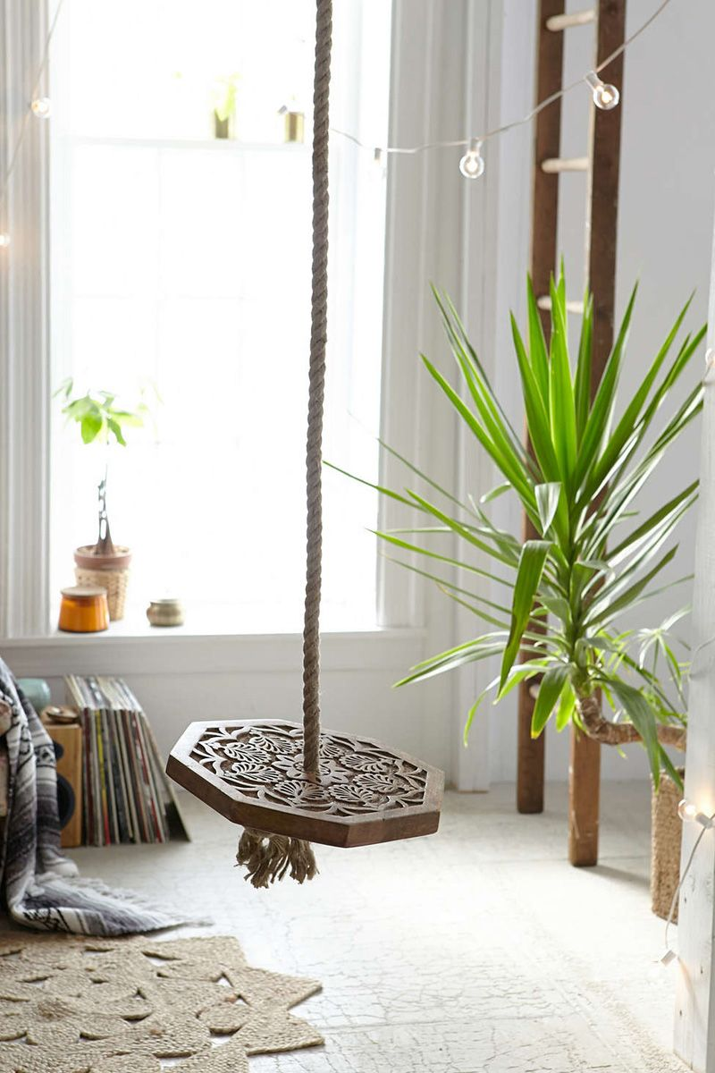 Make your own playground in your home with indoor swing indoor