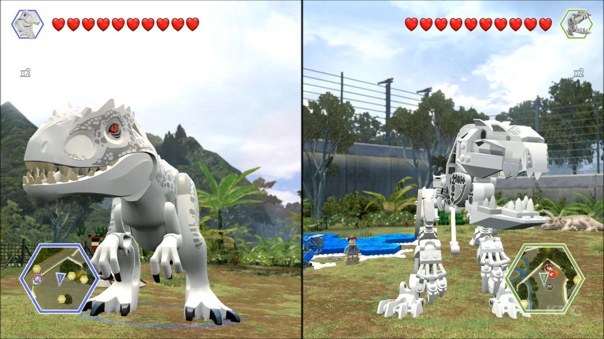 LEGO Jurassic World Indominus Rex vs Skeleton Indominus