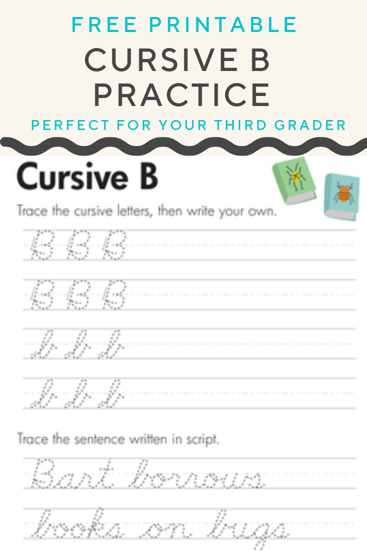 Free Cursive B Worksheet For Kids Worksheet Education Com Worksheets Learning To Write Language Arts Resources [ 1102 x 735 Pixel ]