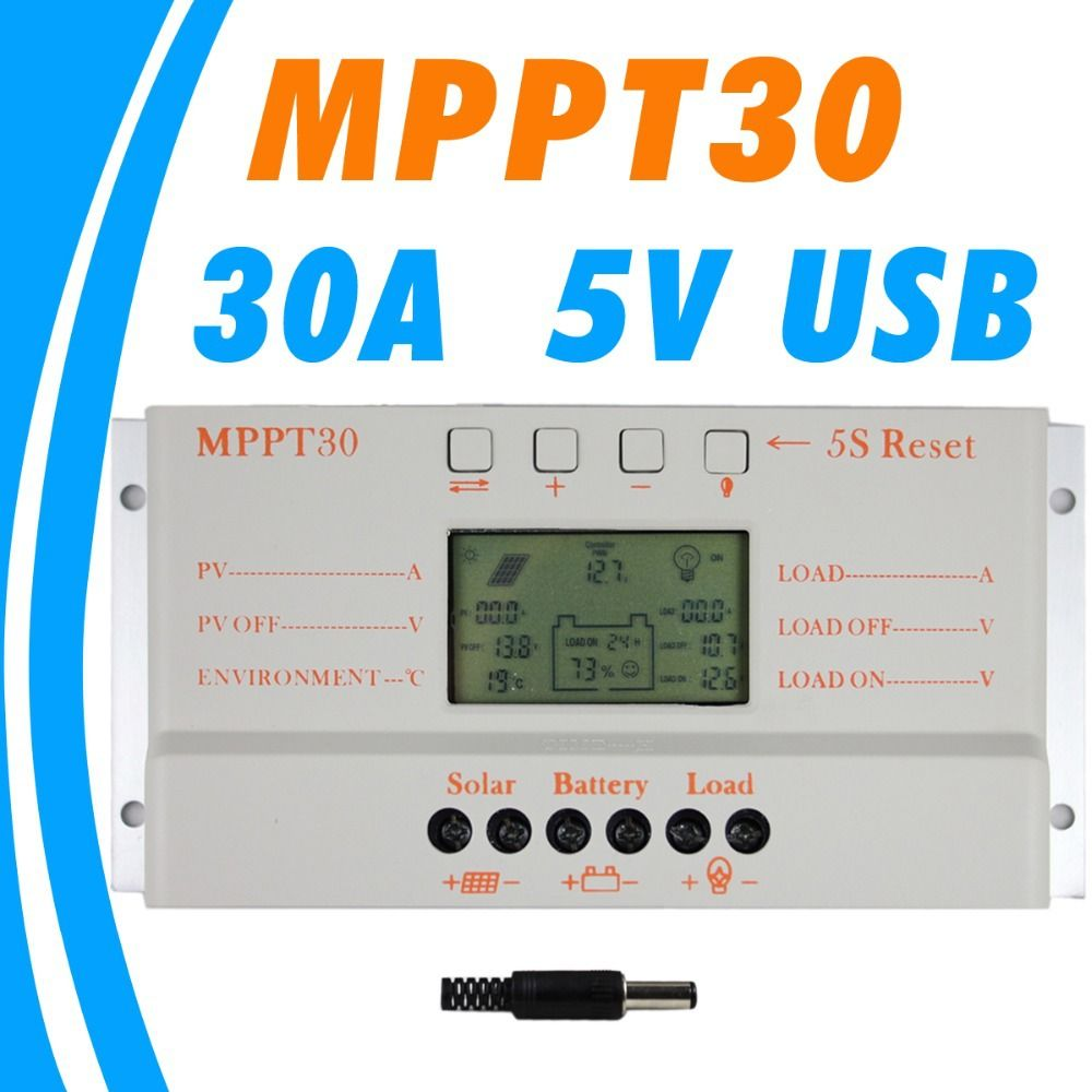 Mppt 30a Solar Charge Controller 5v Usb Charger 12v 24v Solar Panel Battery Lcd Charger Controller Auto Work Mppt 30 30amps Affiliate Charger Berlayar