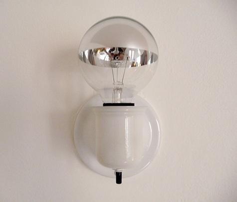 Silver Bowl Light Bulb: Silver-Bowl Decorative Globe Light Bulbs: Remodelista HALLWAY,Lighting