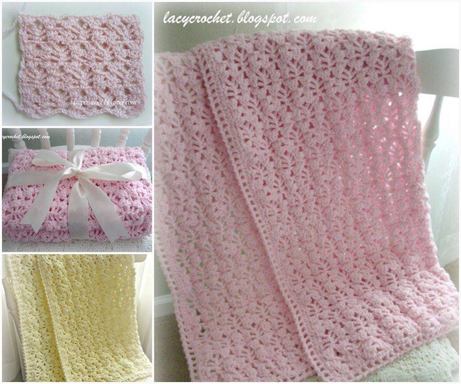 Vintage Crochet Baby Blanket Patterns Free Tutorials | Colchas y Cosas