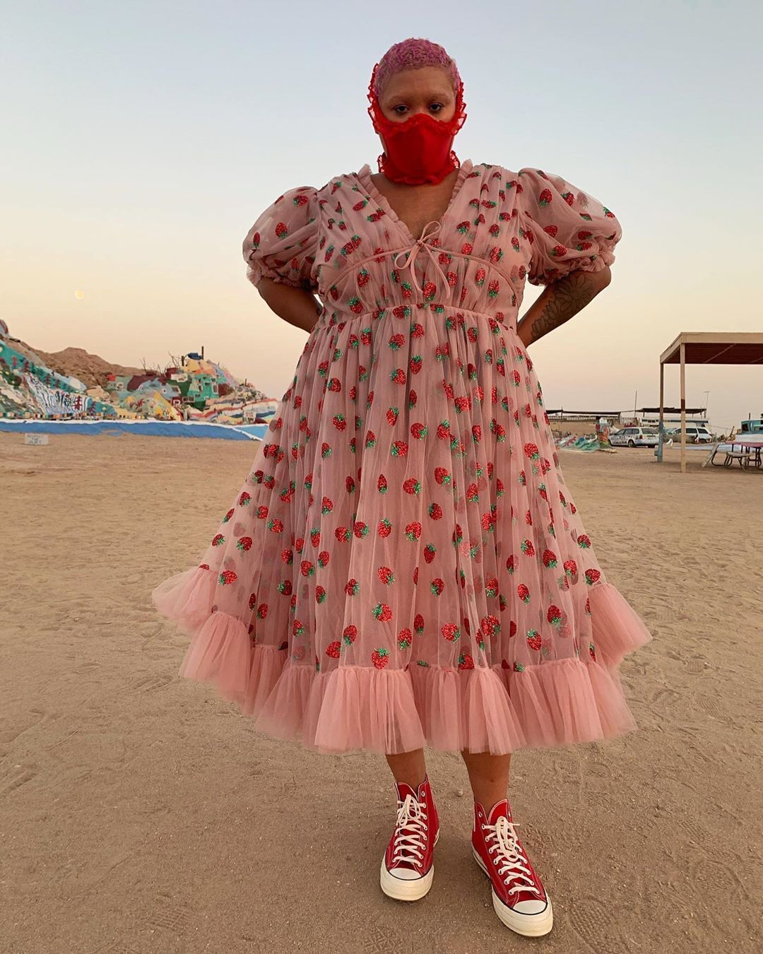 Jazzmyne Robbins On Instagram Ur Strawberry Shoes Converse Chuck 70s 1512217 Dress Borrow From Tessholliday Curvy Girl Outfits Fashion Curvy Outfits [ 1350 x 1080 Pixel ]