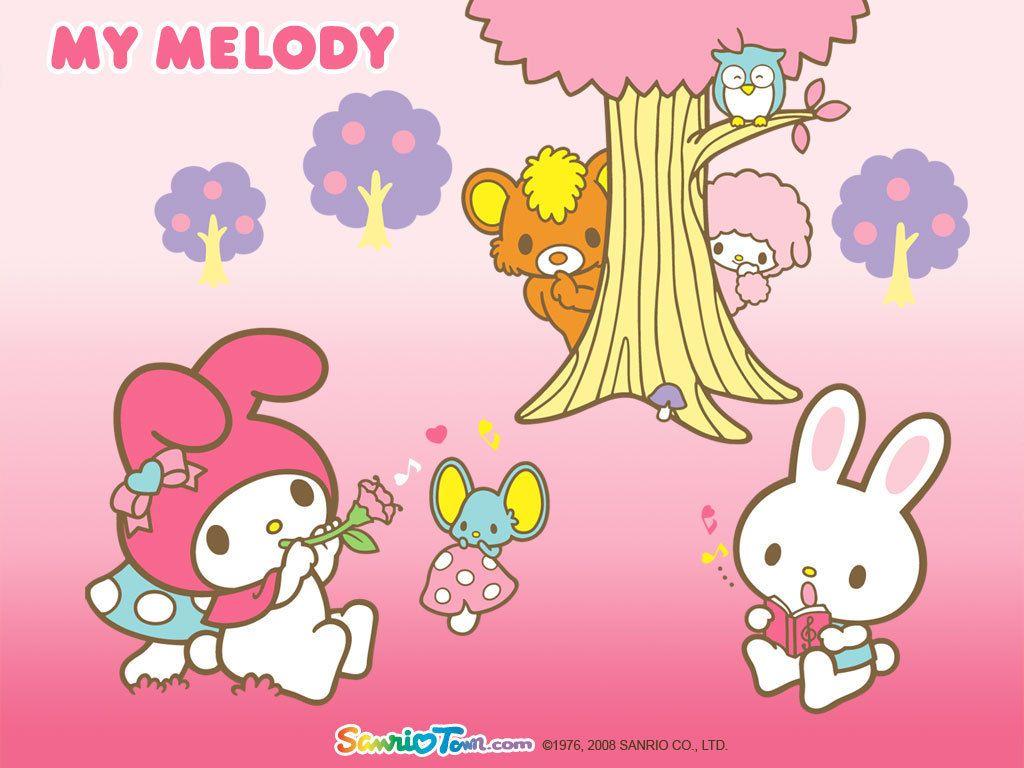 My Melody Wallpaper Hello Kitty